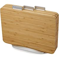 """Joseph Joseph 60141 Index Bamboo Chop Boards Set with Stand (3 Pieces),10"""" x 14"""",Beige"""