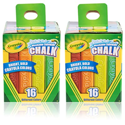 Crayola Sidewalk Chalk 16 CT. Pack of 2: Toys & Games