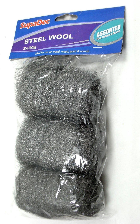 Pack de 3 varios colores rollos de alambre de 30 g (acero) lana. SupaDec WW6A