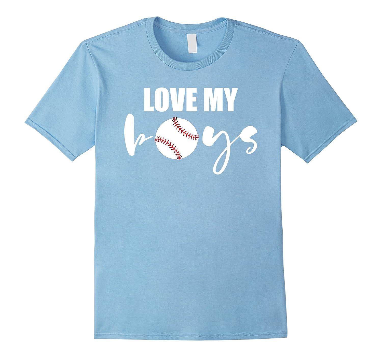 Love my Boys - Mom and Dad Baseball Cheer T Shirt-alottee gift