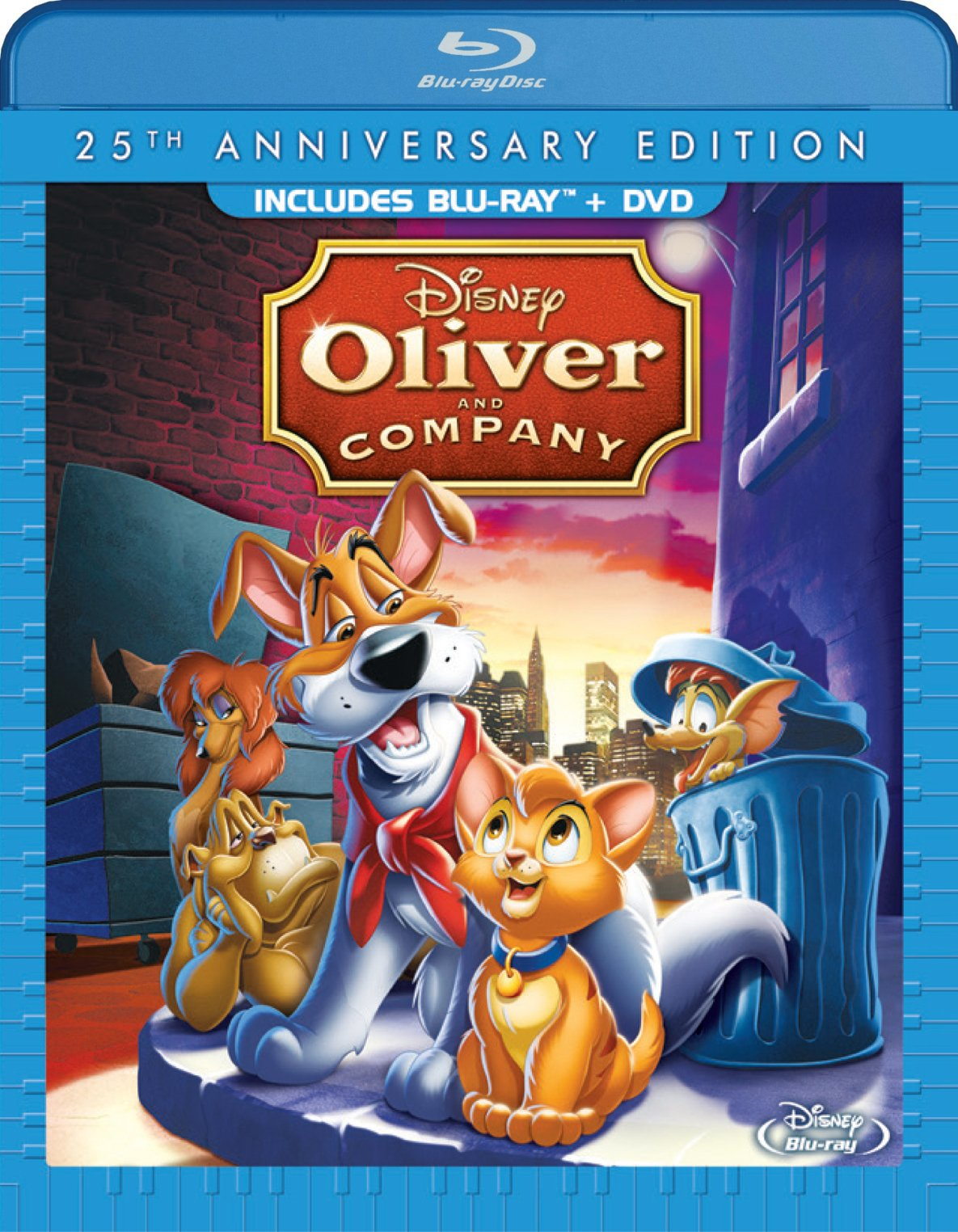 Blu-ray : Oliver and Company: 25th Anniversary Edition (With DVD, 2 Pack, , Dubbed, AC-3)