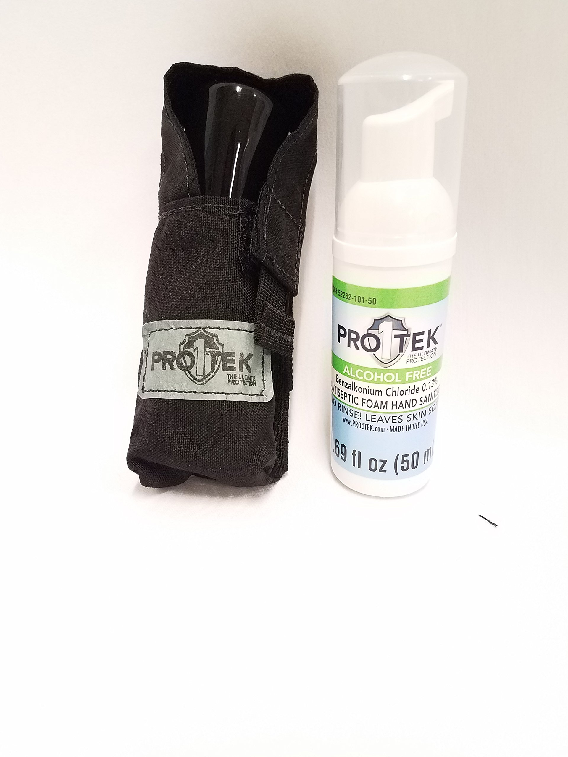 PRO1TEK 50ML SANITIZER WITH BLACK PROTECTIVE COVER- CASE OF 21 by PRO1TEK (Image #1)