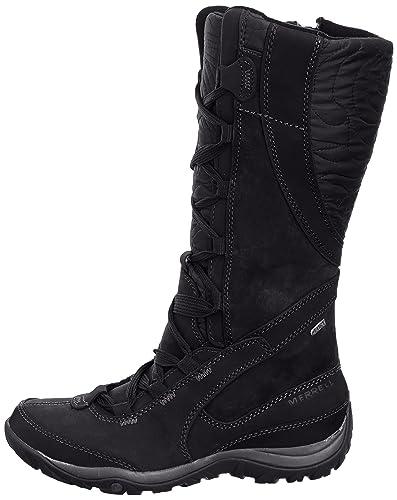 Merrell Dewbrook Peak Wtpf - Botas para mujer, color negro, talla 37
