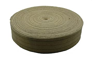 Cincha Yute de tapicería, 12 metros, correas de 80 mm. de estilo clásico para tapizar.