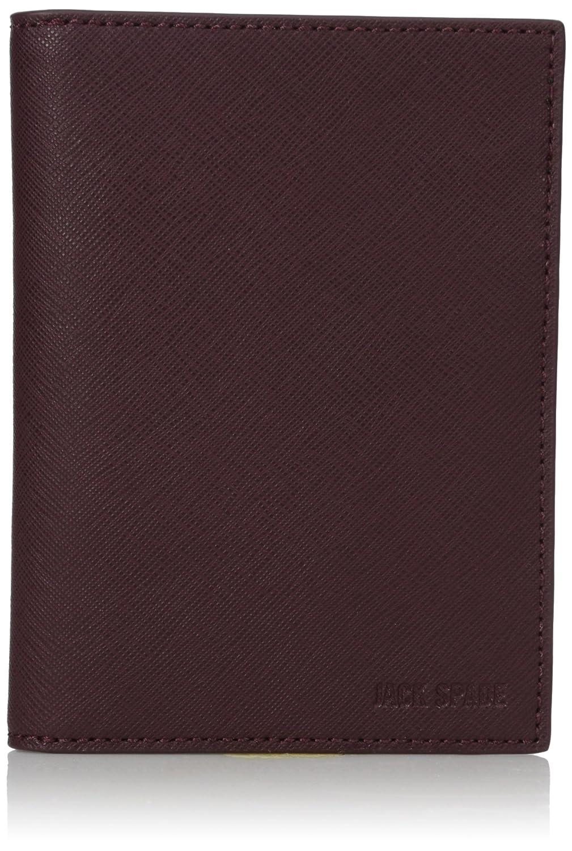 Jack Spade Men's Barrow Leather Passport Wallet Admiral Blue One Size W6RU0321