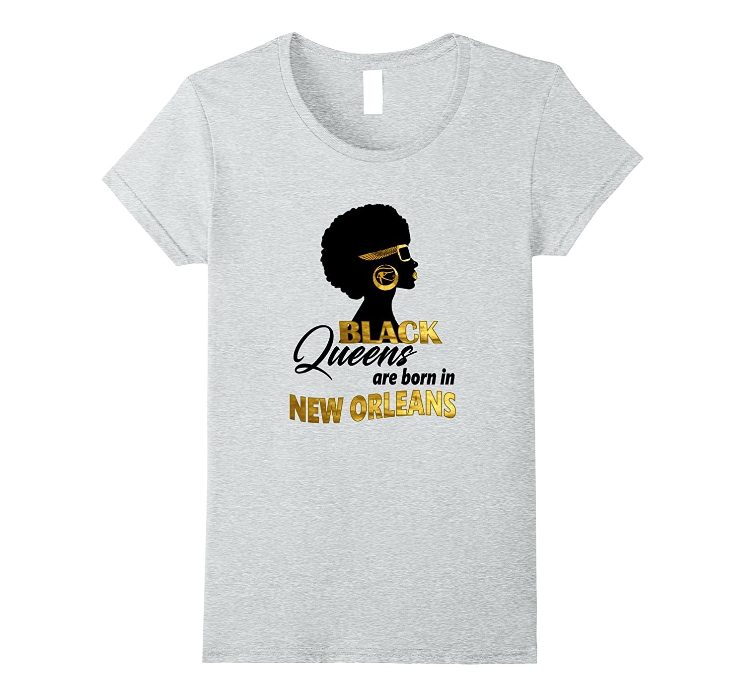 Womens Black Queens are born in New Orleans-FL