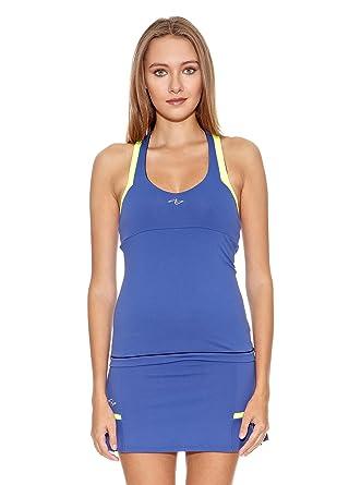 Naffta Camiseta Tenis/Padel Azul Noche/Amarillo Flúor XS: Amazon ...