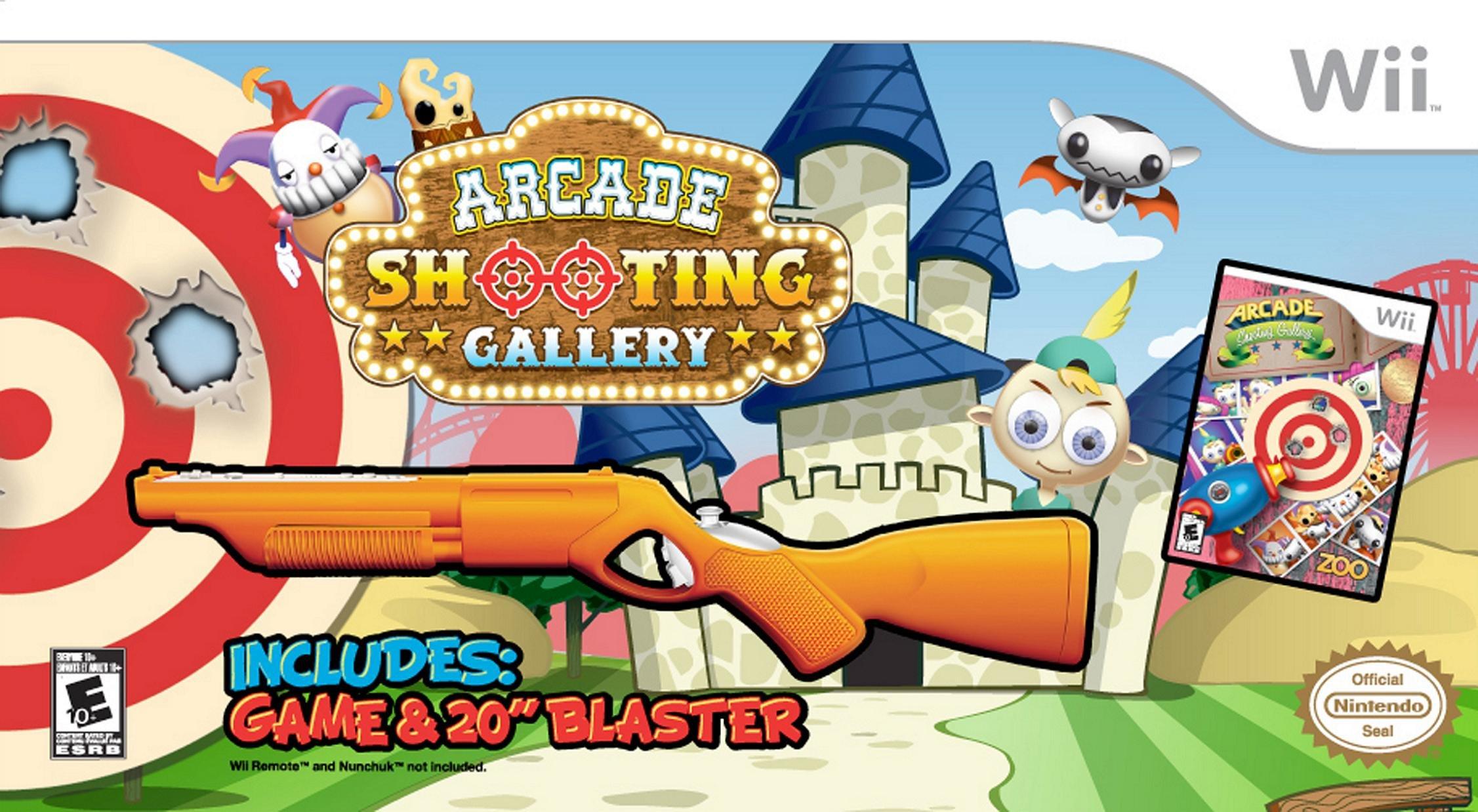 Arcade Shooting Gallery with Blaster - Nintendo Wii (Bundle)