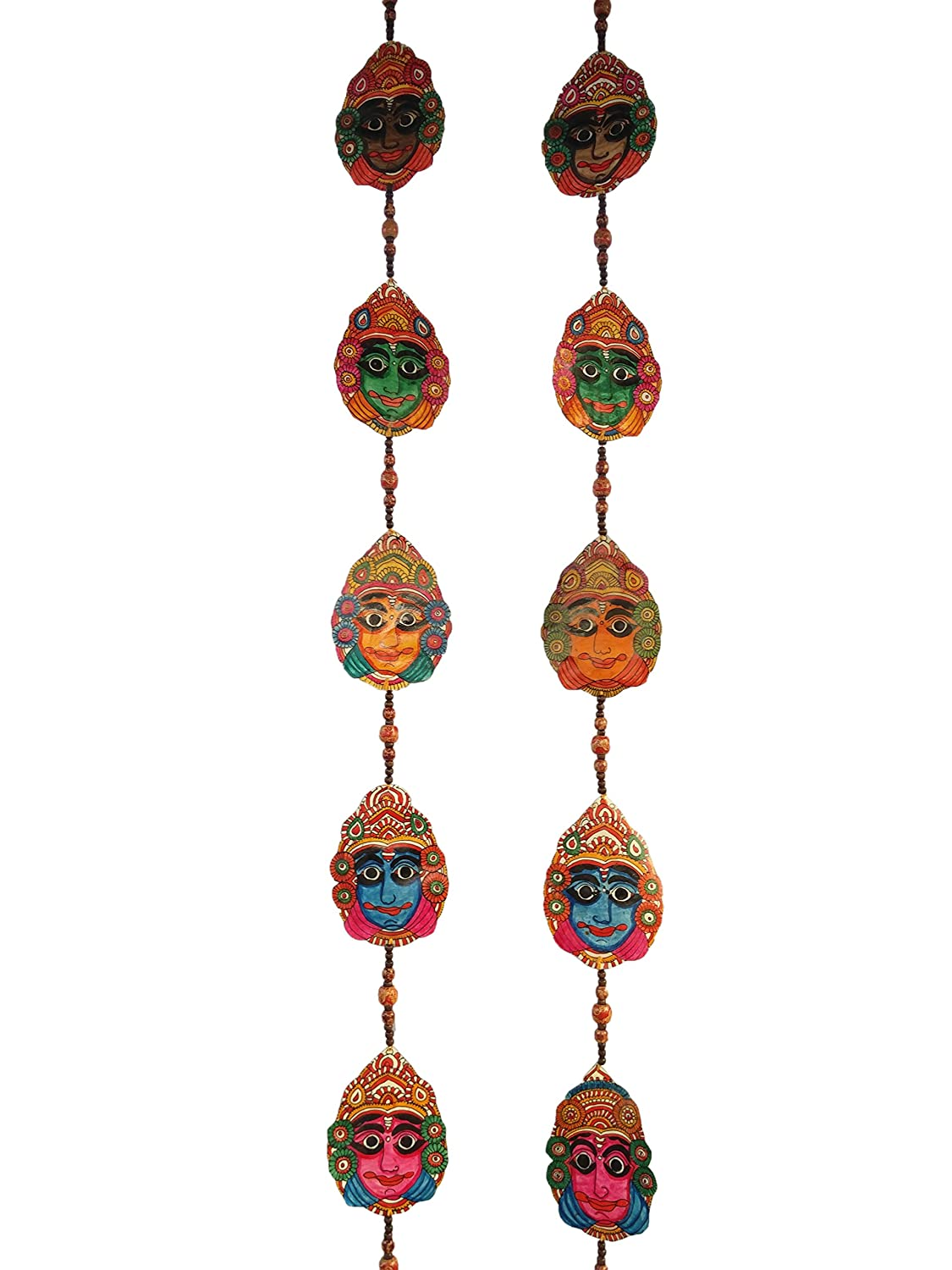 Buy leather puppetry yakshagana face door hanging pair leather puppetry door hangings yakshagana face online at low prices in india amazon in