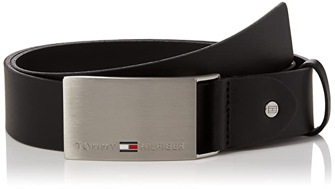 Tommy Hilfiger Plaque Belt 3.5 ADJ, Ceinture Homme, Noir (Black), 105 2f01b8765aa