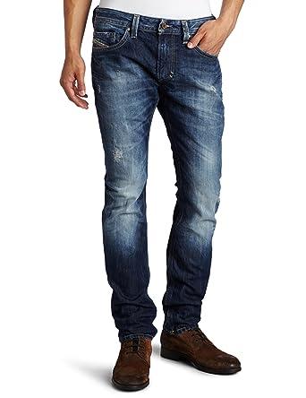 be0ad58f Diesel Men's Thavar Slim Skinny Leg Jean 008B9, Denim, 28x30: Amazon ...
