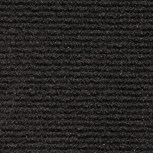House, Home and More Indoor Outdoor Carpet with Rubber Marine Backing – Black – 6 Feet x 50 Feet
