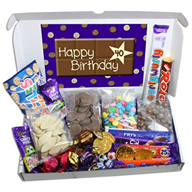 40th Birthday Large Chocolate Gift Box Amazoncouk Grocery