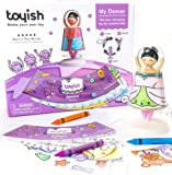 Toyish AWARD WINNING Girls Toys for Toddler & Preschool Kids - Arts & Crafts Ballerina Dancer Toy Kit with Coloring Book & Stickers - Boost Creativity & Learning for age 3 - 8 year old