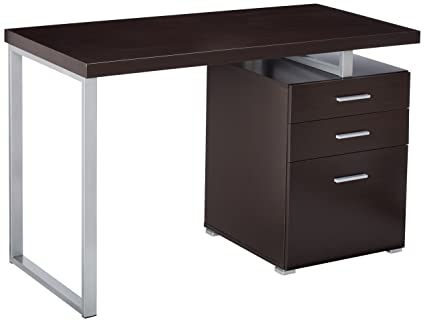 Office Desk With File Drawer And Reversible Set Up Cappuccino