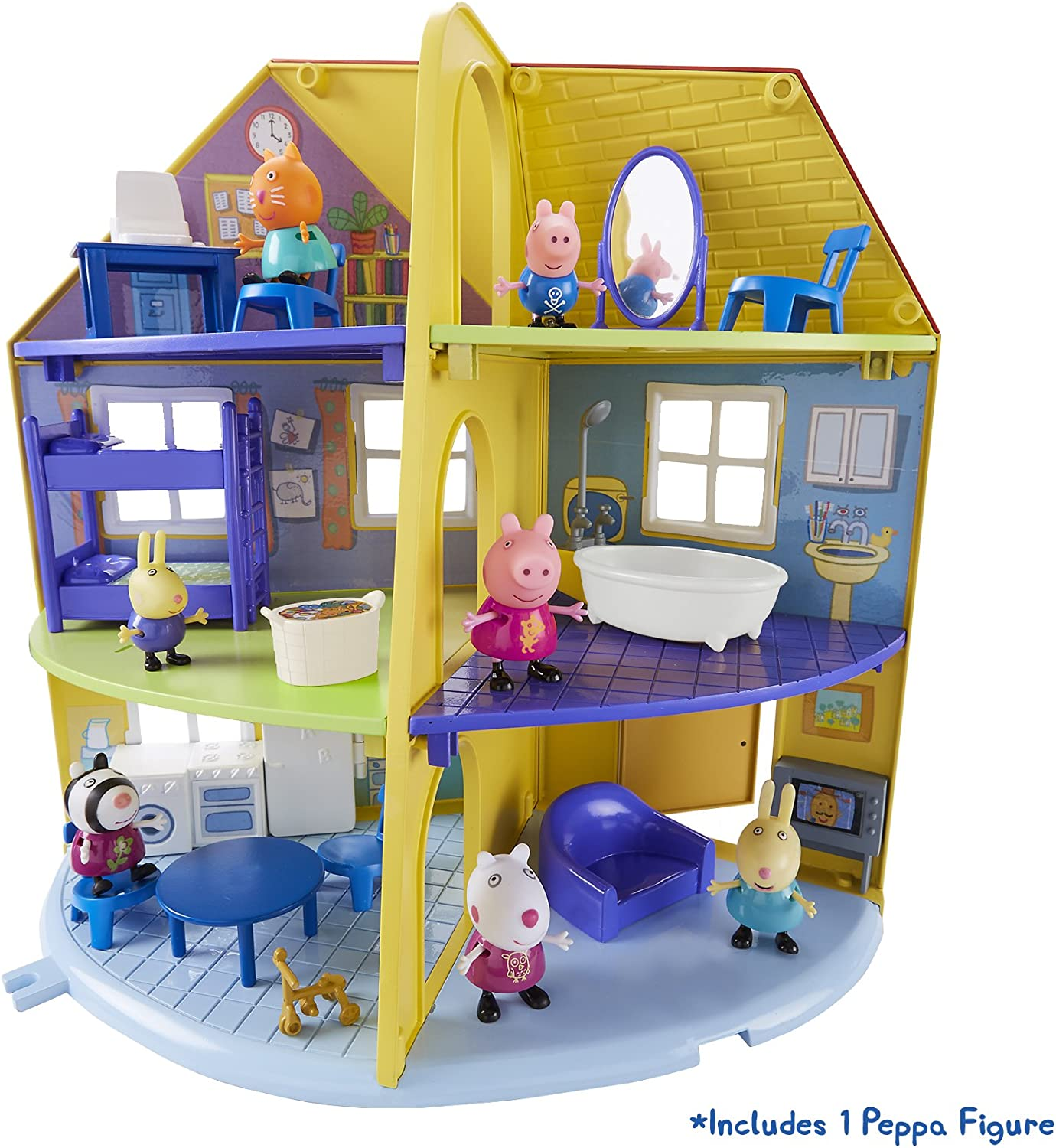 Peppa Pig 06384 Peppa's Family Home Playset Juego de casa Familiar, Multicolor, 0 (Character Options