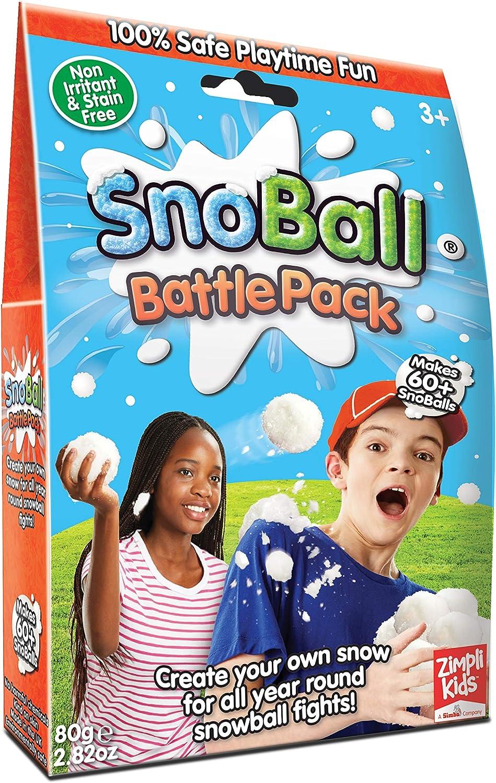 Zimpli Kids-5445 Pack de Batalla de Snoball, Color Blanco, Pack Individual (5470)