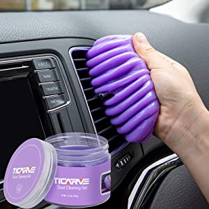 TICARVE Cleaning Gel for Car Detailing Putty Car Vent Cleaner Cleaning Putty Gel Auto Detailing Tools Car Interior Cleaner Dust Cleaning Mud for Cars and Keyboard Cleaner Gel Cleaning Slime Purple