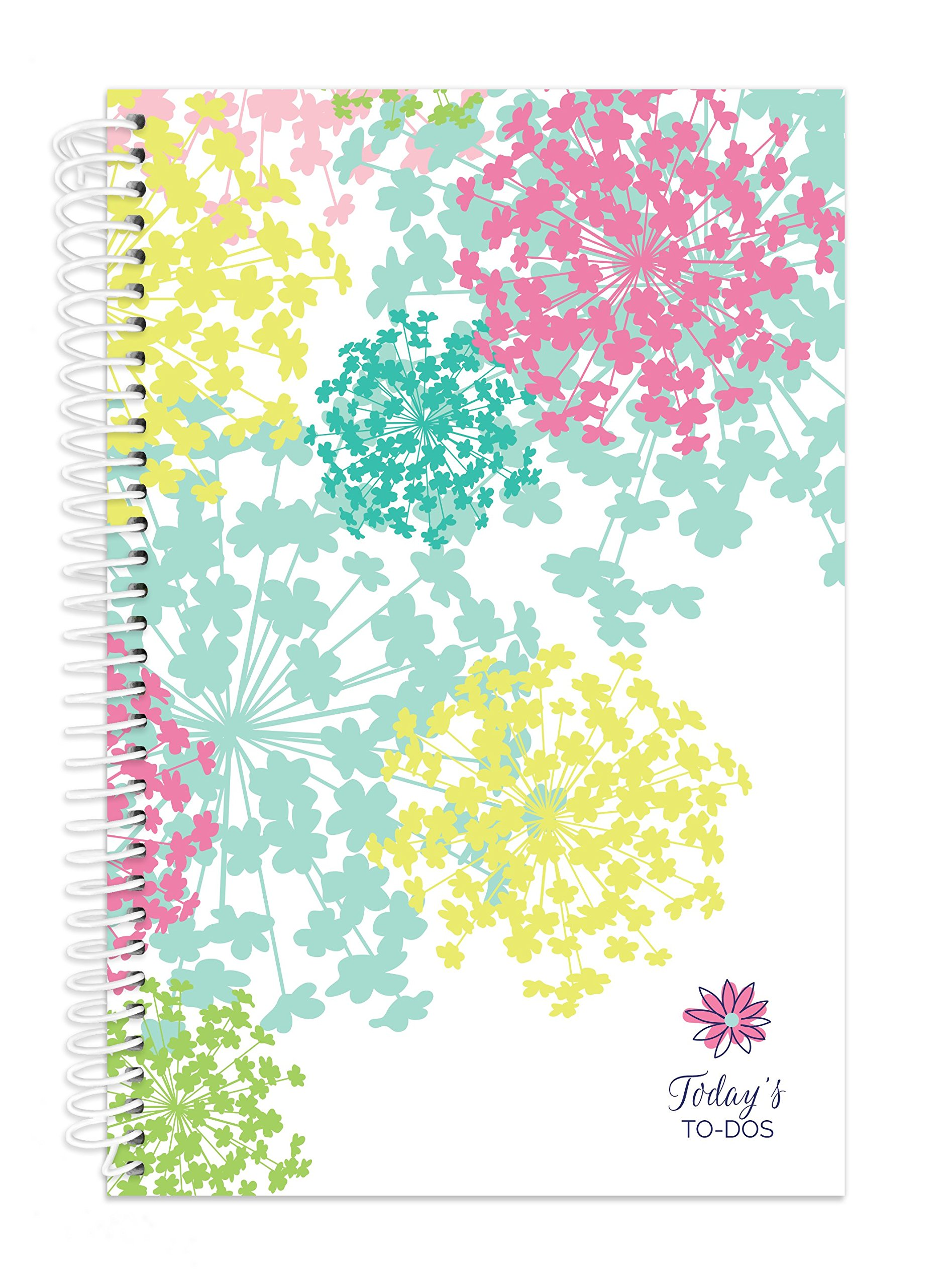 bloom daily planners Bound To-Do List Book - Planning System Tear Off To Do Pads - UNDATED Daily Planner To Do Pad 6'' x 8.25'' - Bloom