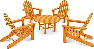 product image for POLYWOOD PWS119-1-TA Classic Adirondack 5-Piece Conversation Set, Tangerine
