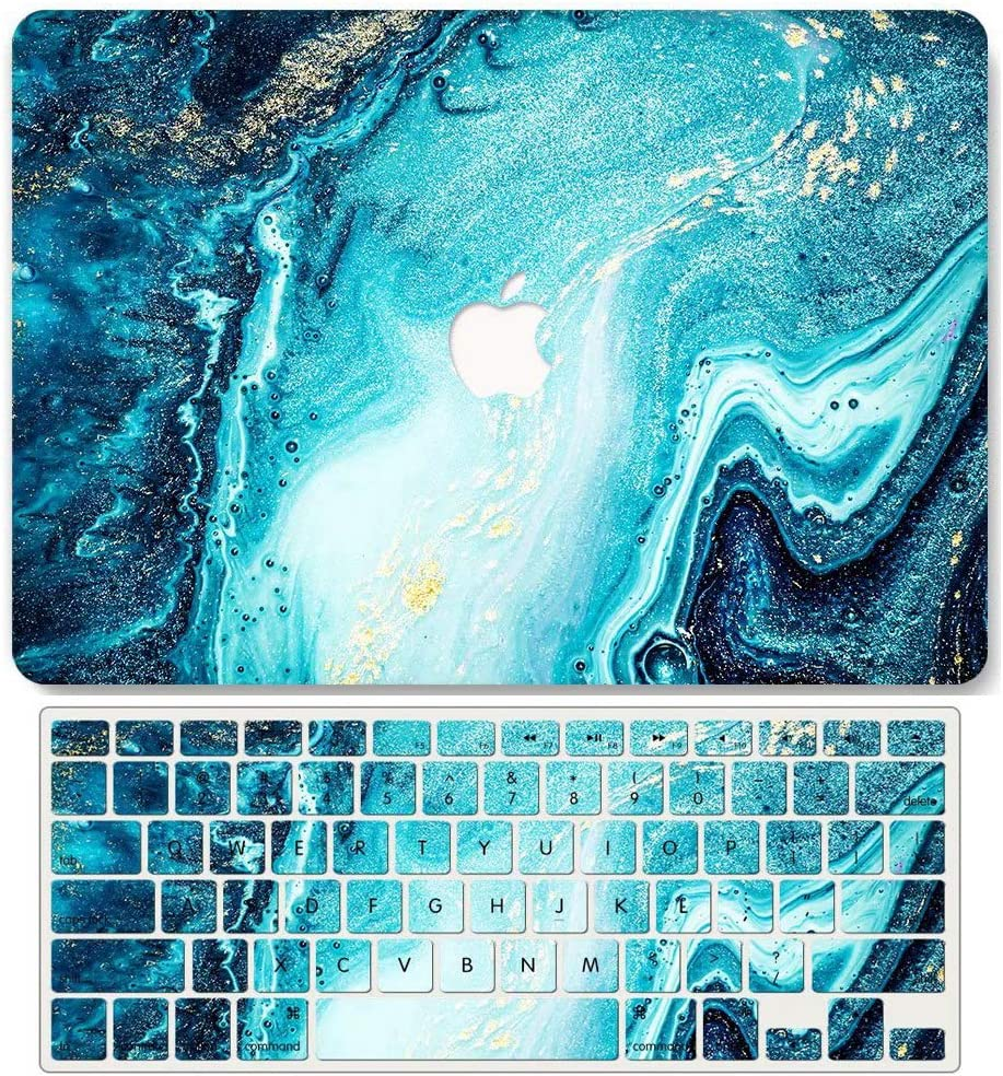 Model A1706//A1989//A2159 867 Green Water Pattern Release 2016-2019 AQYLQ MacBook Pro 13 Inch Case with Touch Bar and Touch ID Matte Plastic Hard Case /& Keyboard Cover