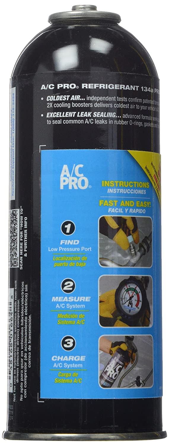 Amazon.com: Interdynamics A/C PRO ACP-101 R-134a Ultra Synthetic A/C Refrigerant Refill (14 oz): Automotive