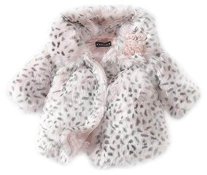 a9469f6e2 Amazon.com: Kate Mack Baby-Girls Newborn Belle Epoque Fur Coat, Pink ...