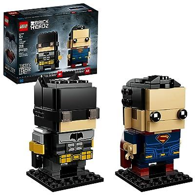 LEGO BrickHeadz Tactical Batman and Superman 41610 Building Kit (209 Piece) ( Exclusive): Toys & Games