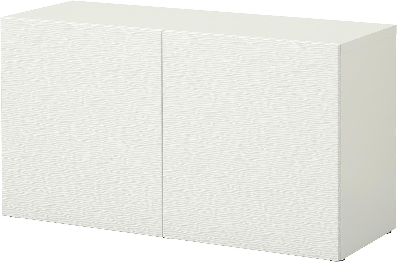 IKEA BESTA - Estantería con puertas Laxviken blanco: Amazon ...