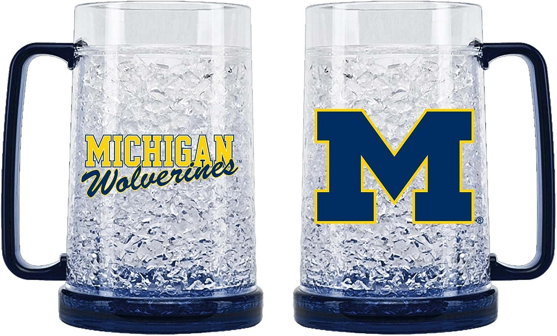 Michigan Wolverines Crystal Freezer Mug