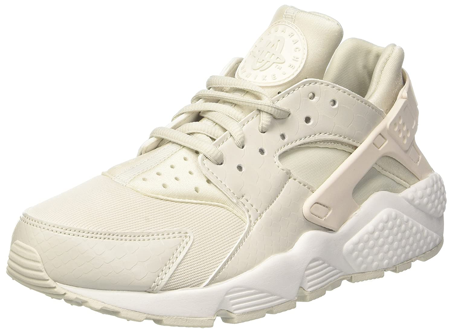 Nike Wmns Air Huarache Run, Entrenadores para Mujer 44.5 EU|Multicolor (Phantom/Light Bone-s 028)