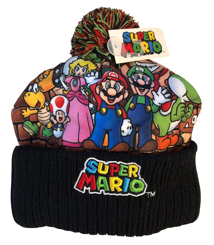 Super Mario Beanie Hat Winter Cold Weather Boys Kids Cap