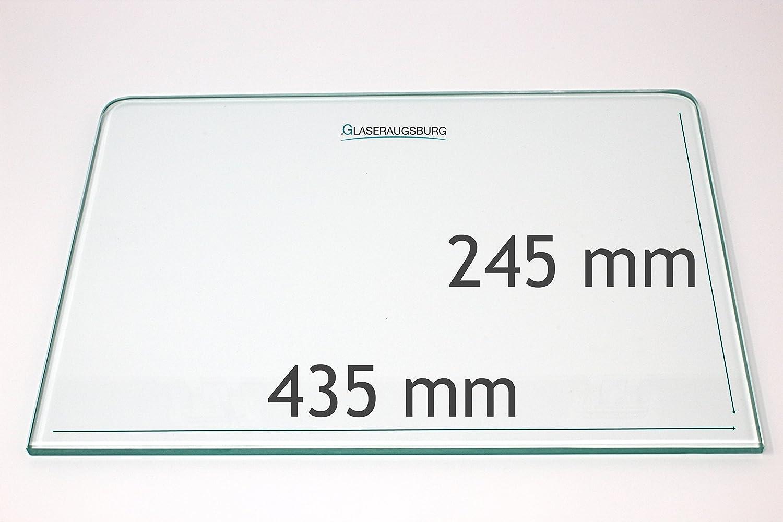 K/ühlschrank Einlegeboden//Glasplatte // Gem/üsefach Direkt vom Glasereifachbetrieb!!! Klarglas 4 mm dick 485 mm x 310 mit 2 Rundecken