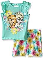 Baby Girls' Frozen Short Set - Flowers, Blue