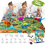Retruth Kids Dinosaur Painting Kits w/ Dino Play Mat, Kids Dinosaur Painting Toys for Boys & Girls, Kids Dinosaurs Arts…