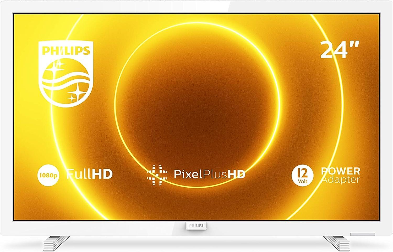 Philips 24PFS5535/12 Televisor de 24 pulgadas (60 cm) TV LED (Full HD, Pixel Plus HD, entrada de 12 V, HMDI, VGA, USB), color blanco (modelo 2020/2021)
