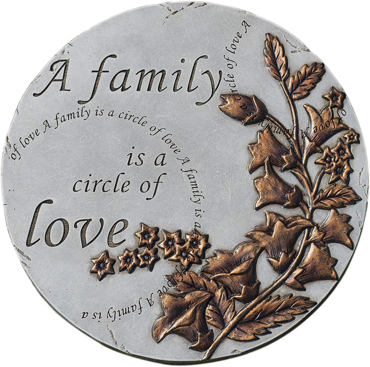 Home & Garden Family is A Circle of Love Stone Polyresin Spring Summer 11849