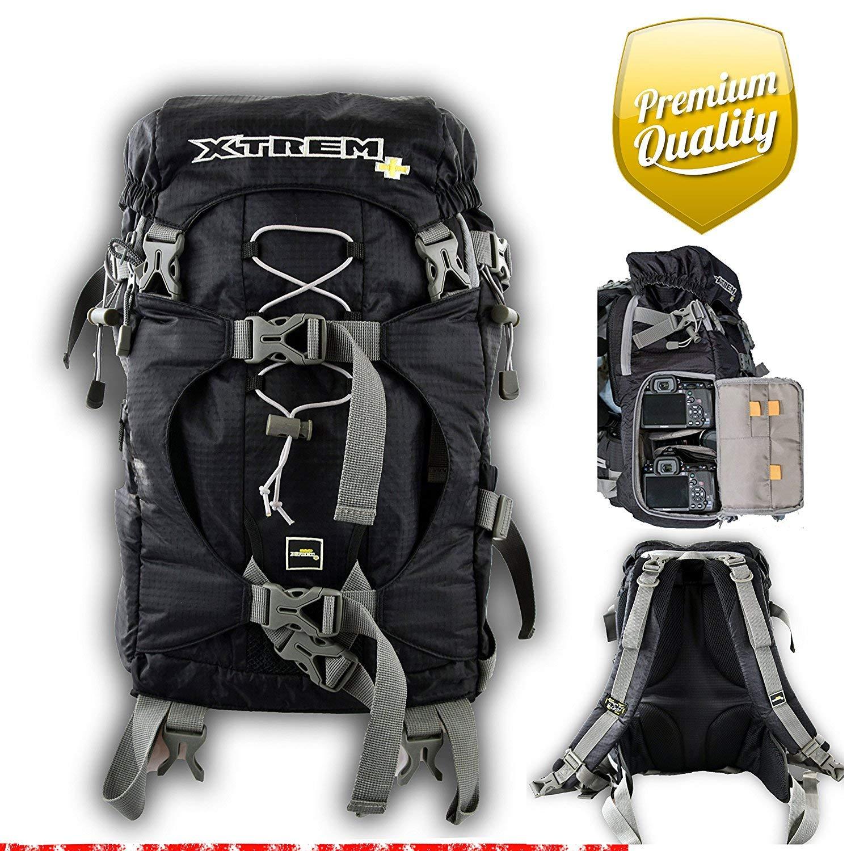 XTREM+ Kamerarucksack schnell flexibel und Multifunktional H:48cm B:32cm T:23cm Gewicht: 1,08 kg XTREMPLUS Rucksack Powermove L leicht