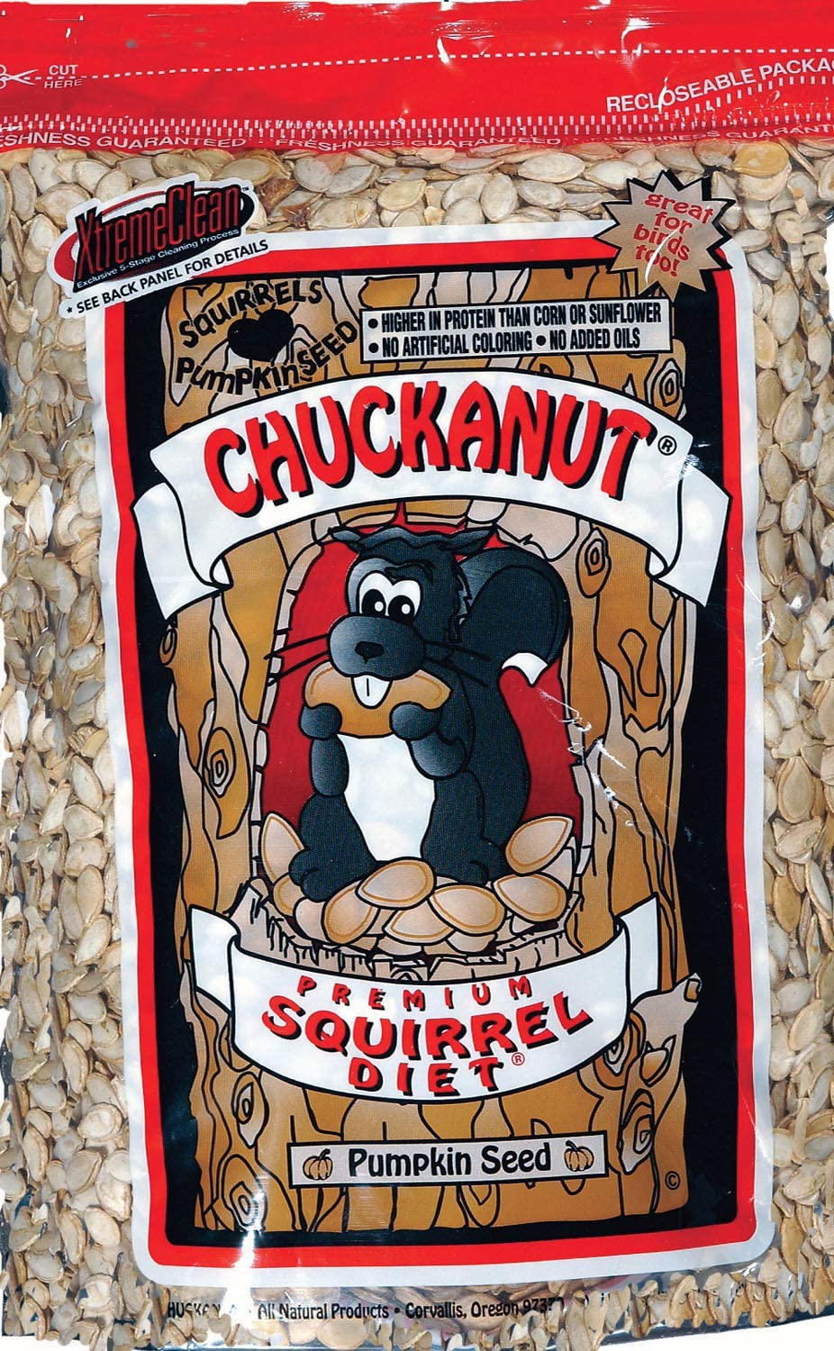 Buckeye Nutrition Carrot Crunchers Equine Treats, 4 lbs., Chuck-A-Nut - Food for Squirrels, 3 lbs