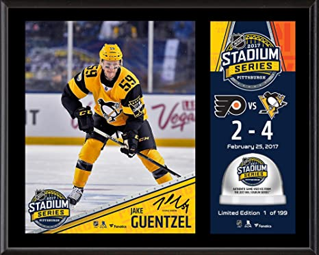 Jake Guentzel Pittsburgh Penguins 12 quot  x 15 quot  2017 Stadium Series  Sublimated Plaque with Game 4ba2f6fe9