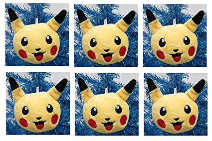 pokemon pikachu holiday christmas tree ornaments unique shatterproof design
