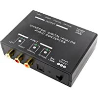 Digital Analogue Converter DAC ADC & Splitter Coax Optical Toslink Stereo Audio A1298