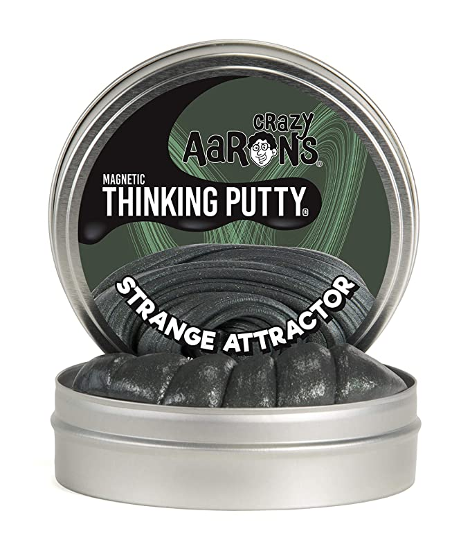 Amazon.com: Crazy Aaron's Thinking Putty, 3.2 Ounce, Super Magnetic Strange  Attractor: Toys & Games