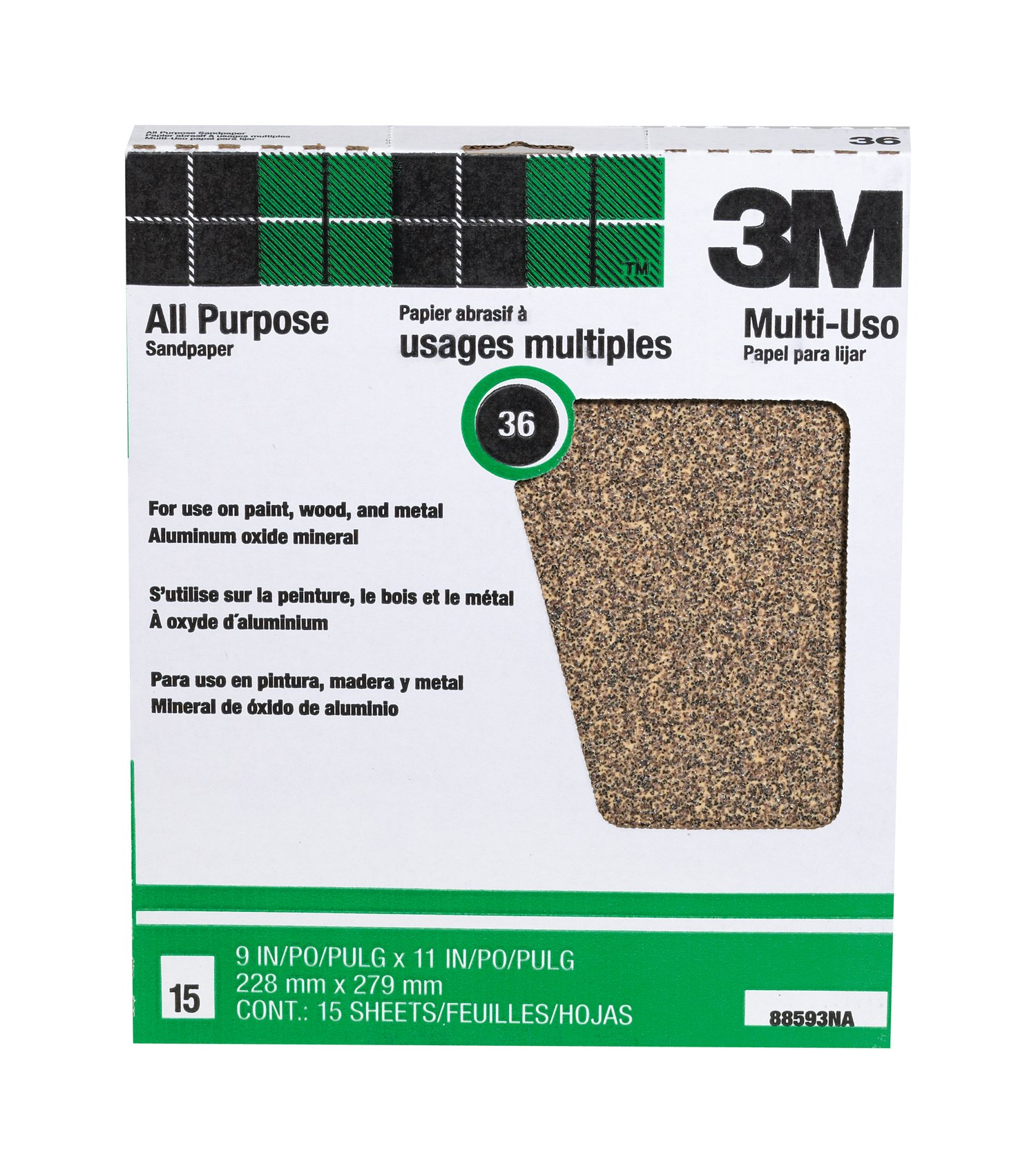 3M Pro-Pak Aluminum Oxide Sheets for Paint and Rust Removal, 9-Inch by 11-Inch