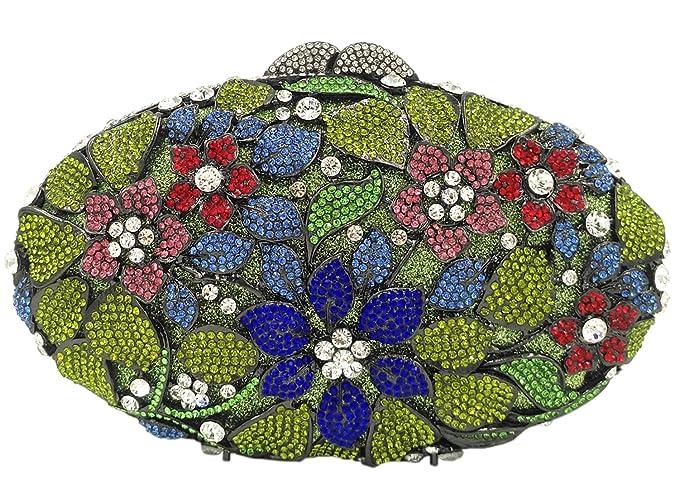 Evening Bags For Womens Clutches Purse Strap Event Handbags Makeup Wedding Flower Green