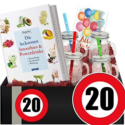 Zahl 20 Smoothie Kit 20 Geburtstag Frau Geschenke