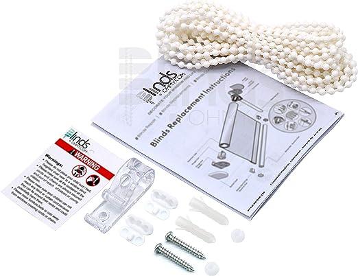 Chaine à Perles Cordon De Store Perles En Plastique Blanc Pour Store Enrouleur Chaîne Pour Réparation 4 X 6 Mm Cordon Pour Fixation De Store 5
