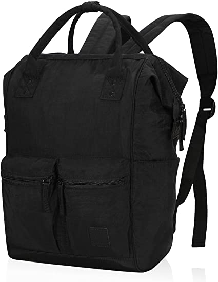 single zipper black Backpack versatile casual large capacity travel bag Single zipper black