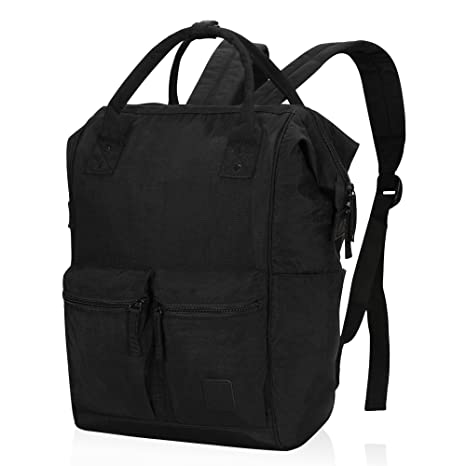 39bb9ff4fdf4 Veegul Wide Open Multipurpose School Backpack Lightweight Travel Bag with  Laptop Compartment, Ash Black