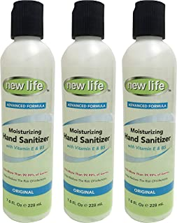 product image for NewLife Hand Sanitizer with Vitamin E & B5 - Kills Germs Without Soap & Water - Refreshing Gel, Made in USA - 7.8 oz, 3 Pack